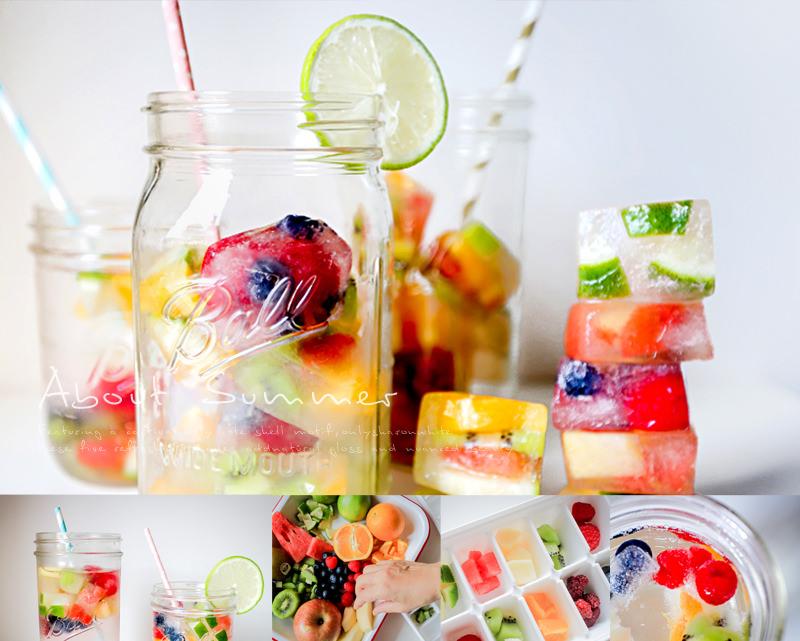彩虹繽紛水果冰塊動手DIY.超簡單夏季清涼消暑創意冰品!(Ball儲物罐/梅森罐)