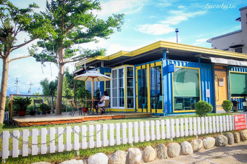 桃園中壢 | 塩Way義式餐坊.黃藍色彩的夢想貨櫃屋餐廳 / 下午茶、親子餐廳
