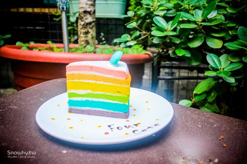 新竹甜點 | 四隻貓老宅咖啡廳.隱藏版甜點無臉男布朗尼、彩虹蛋糕!
