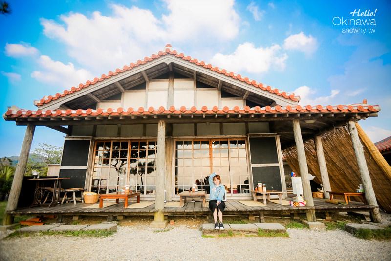 沖繩 花人逢かじんほう.沖繩老民宅裡悠閒吃PIZZA 賞海景