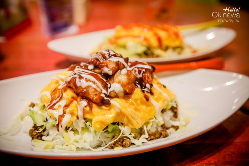 沖繩美國村 Taco Rice Cafe Kijimuna きじむなぁ.不能錯過的滑嫩歐姆塔可飯