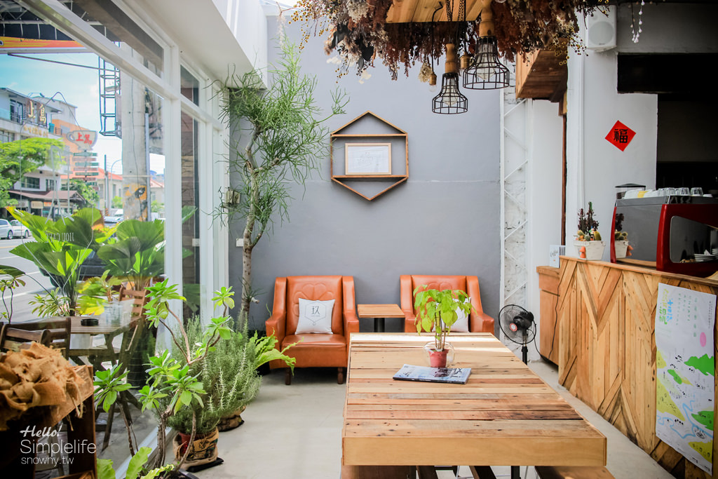 嘉義 | 玖CAFE.老屋改建文青咖啡廳 打卡熱點/單品咖啡/每日甜點/乾燥花