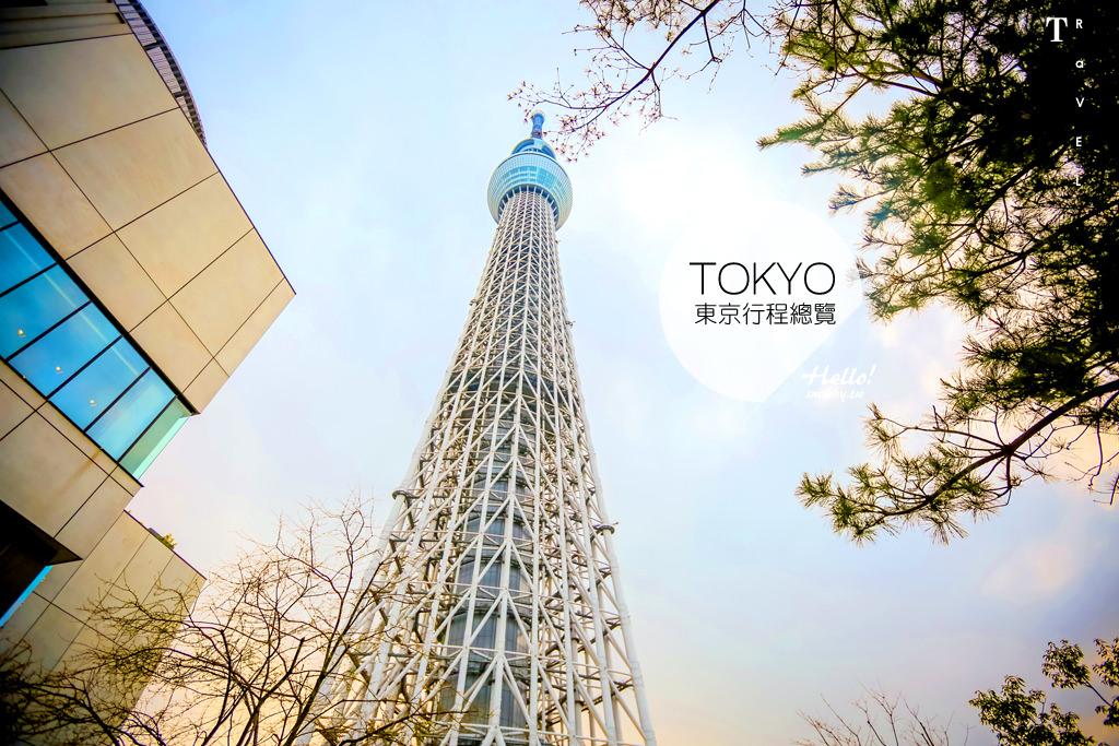 東京自由行 九天八夜行程規劃表格 | 景點推薦、美食購物、住宿整理