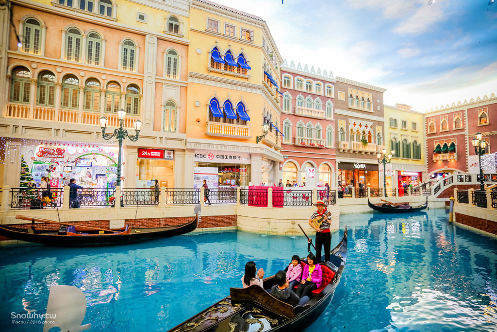澳門威尼斯人酒店.貢多拉船、大運河購物中心