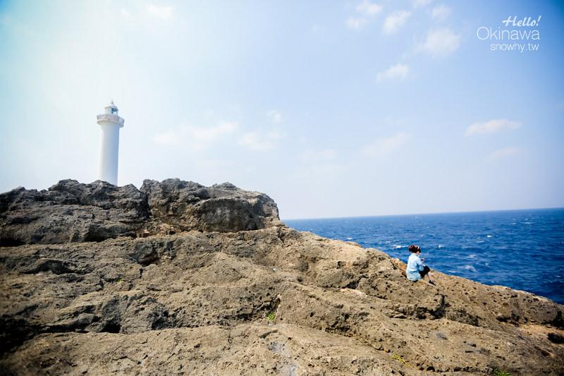 沖繩殘波岬公園.壯麗斷崖邊的白色燈塔/ 金城parlor-BLUE SEAL冰淇淋