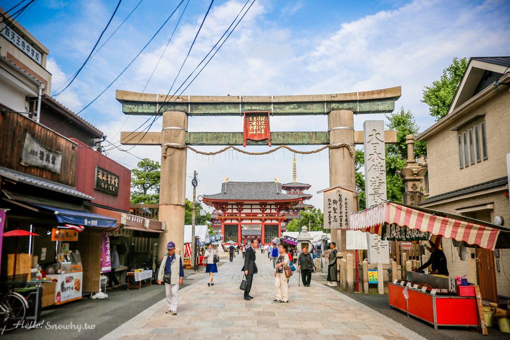 大阪四天王寺│中心伽藍,大阪市區中的五重塔與飛鳥時代風格建築