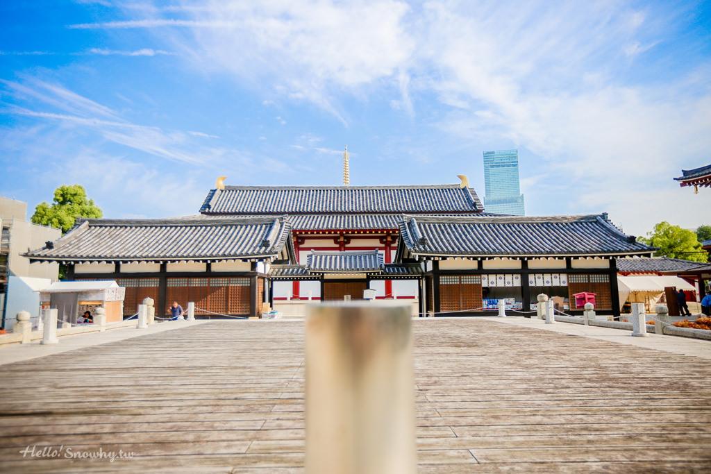 大阪四天王寺,中心伽藍,大阪市區,大阪景點,大阪五重塔,飛鳥時代建築,大阪自由行