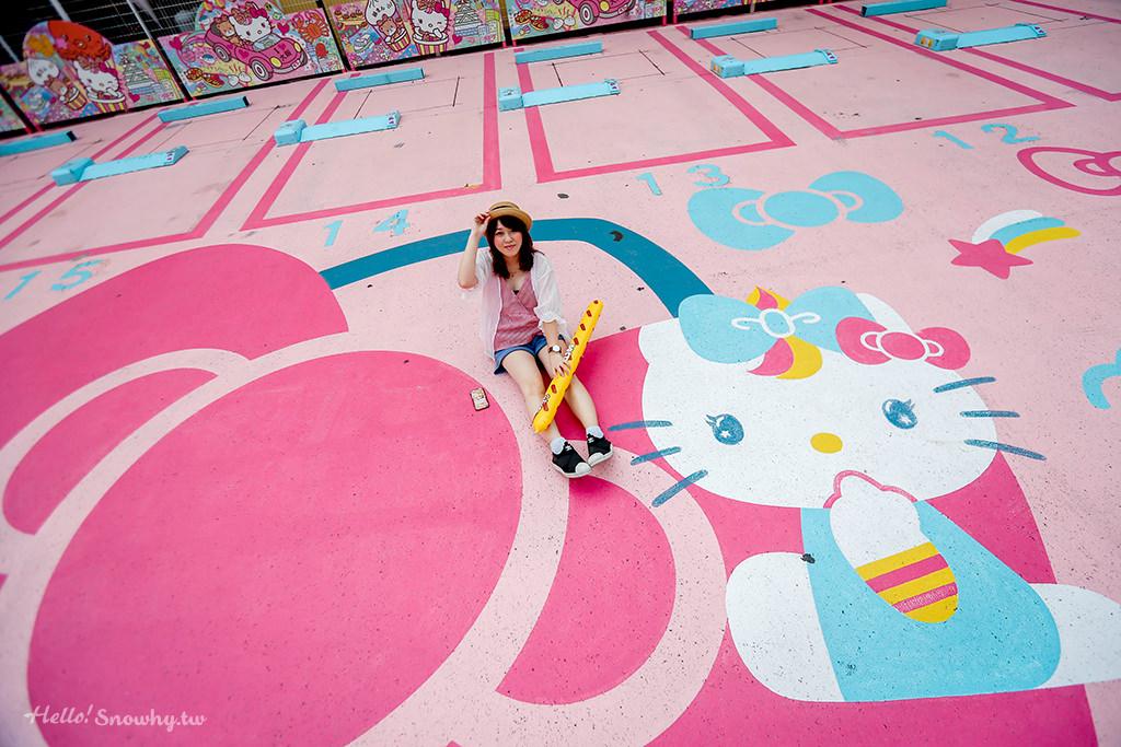 大阪Hello Kitty停車場,大阪景點,大阪打卡景點,大阪停車場,大阪HelloKitty停車場,Hello Kitty停車場