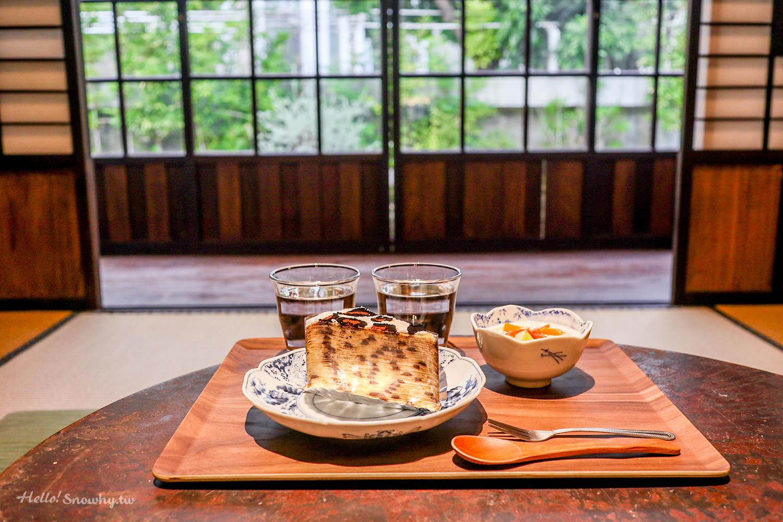 台南新營  三一宅 藝空間 | 到日式木造老建築裡品茶/享甜點,豹紋千層蛋糕超吸晴