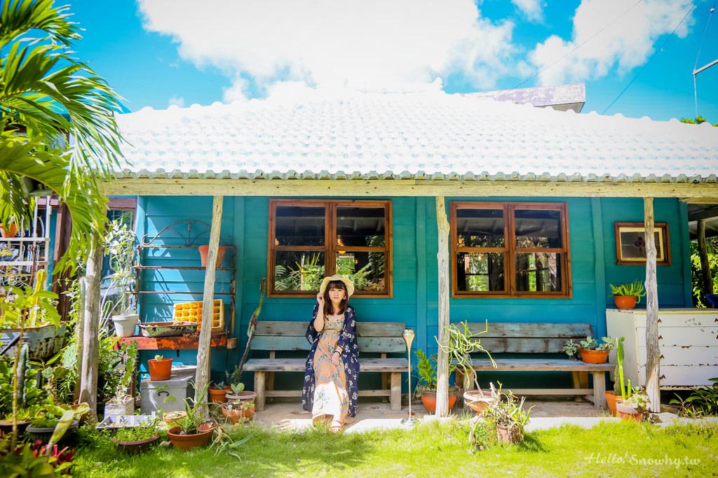 沖繩美食 CALiN 生活選物輕食咖啡館 | 知名島甜甜圈姐妹店 | 屋我地島上的小木屋