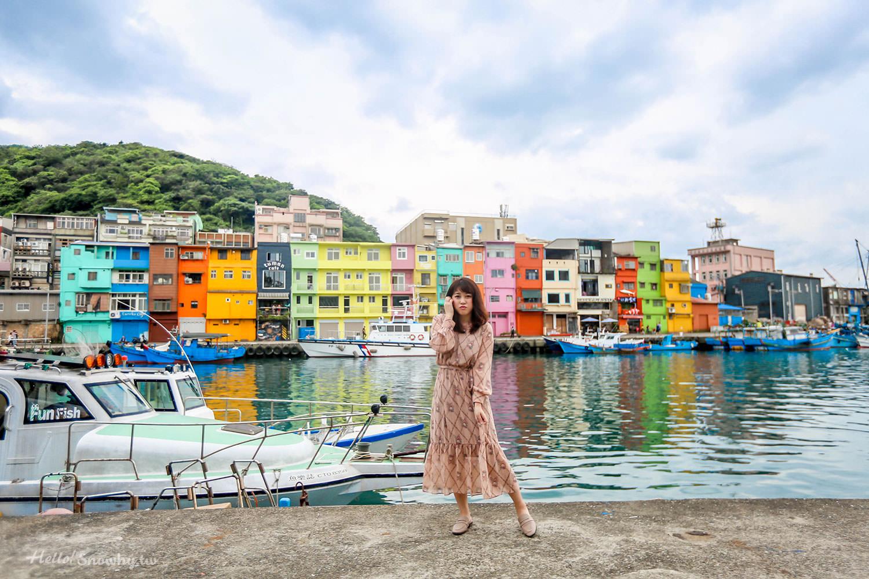 基隆景點 | 正濱漁港彩色小屋.熱門打卡點台版威尼斯,順遊廢墟阿根納造船廠