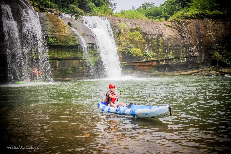 平溪嶺腳瀑布獨木舟溪流探險,基隆河上游嶺腳至望古段 | 台北近郊秘境