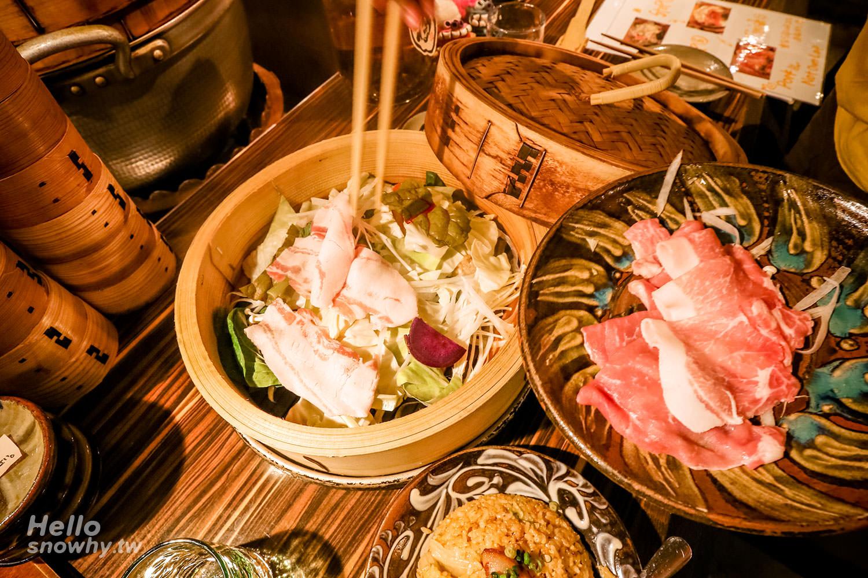沖繩美食 | しまぶた屋(島豚屋那霸店).美味的蒸籠Agu豬料理!
