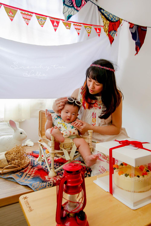 育兒日記,成為媽媽後第一個生日,拍出露營風,露營風搬進家裡,生日快樂,我的生日,白雪姬生日